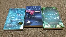 ANN PATCHETT 3 trade size books Run, The Magician's Assistant and State of Wonde