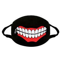Behelf Mund Nasen Atem Schutz Mundschutz Maske Waschbar Schwarz Farbaufdruck 1