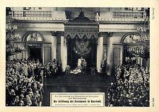 Thronrede des russischen Zaren im Georgsaal des Winterpalais c.1906