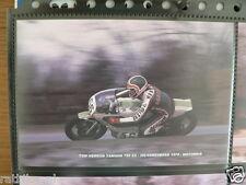 S0743-PHOTO- TOM HERRON YAMAHA 750 CC HILVARENBEEK 1977 NO 56 CASTROL DAINESE MO