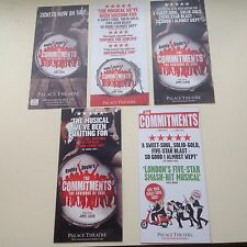 5 x different Flyers THE COMMITMENTS