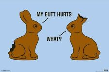 MY BUTT HURTS - FUNNY BUNNY POSTER - 22x34 - 15860