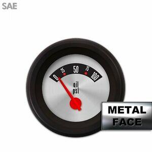 Oil Pres Ga. SAE Amer Retro Rod III, Rd Mod Nedl, Black Trm RingsStyle Kit DIY