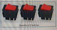 3 x NEW Genuine SHOP VAC SHOPVAC Vacuum Wet & Dry ON OFF RED rocker switch
