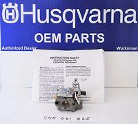 OEM Husqvarna Weedeater Poulan Carburetor 545081825 for Trimmer & Blower