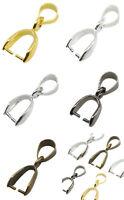 20pcs Pendant Clip Clasp Pinch Clip Bail Pendant Connectors Bail Beads Jewelry