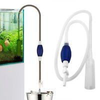 200CM Aquarium Fish Tank Vacuum Hand Water Pump Syphon Gravel Cleaner Kit #