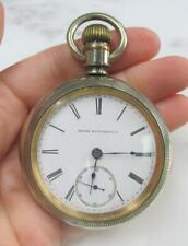 Case Sz 18 ~ 15-Jewels ~ 15-E1455 1898 Antique Elgin Pocket Watch with Nickel