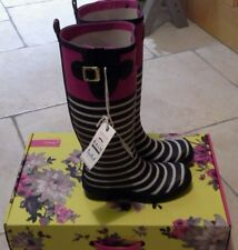 Joules Womens Wellyprint Wellington Boots Multicolour ex Magenta Size 7