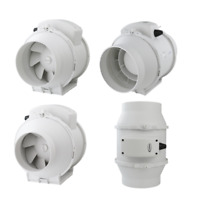 Kanal Rohrventilator Rohreinschub Abluft Lüfter Ventilator aRil 3 Stufen Auswahl