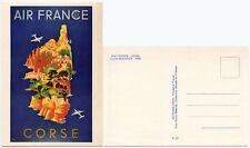 Air FRANCE Corsica Pubblicità Poster 1949 su carta Museo c1970
