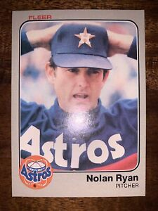1983 Fleer Nolan Ryan Houston Astros #463 Baseball Card