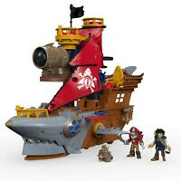 Fisher-Price DHH61 Imaginext Shark Bite Pirate Ship NEW FREE SHIPPING