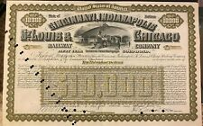 1926 Cincinnati, Indianapolis St Louis & Chicago Railway $10000 Bond Certificate