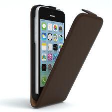 Tasche für Apple iPhone 5C Flip Case Schutz Hülle Handy Cover Braun
