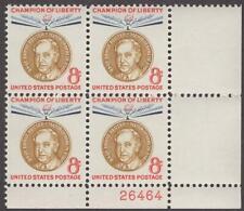 Scott # 1137 - Us Plate Block Of 4 - Ernst Reuter - Mnh -1959