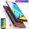 Für Samsung Galaxy A7 2018 Handy Hülle Bumper Tasche Schutz Case TPU+Panzerfolie
