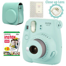 Fujifilm Instax Mini 9 Camera Ice Blue + 20 Instant 8 Films Photos + Bag + Album
