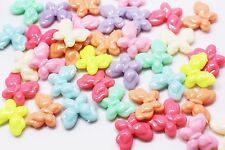 Plastic Butterfly Bead Lollipop Candy Color Large Mix Colors Animal 27mm 100pcs