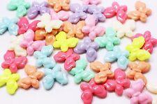 Plastic Butterfly Bead Lollipop Candy Color Large Mix Colors Animal 27mm 100pcs