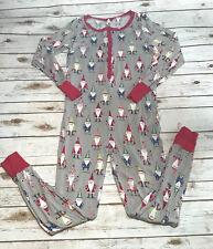 Nite Nite by Munki Munki Womens M Gnomes One Piece Union Suit Pajamas Pj's Santa