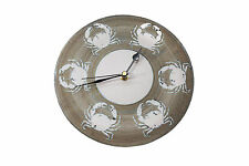 HAND THROWN POTTERY - WALL CLOCK BY TREGEAR POTTERY - CRABS