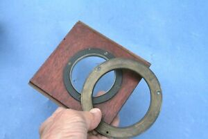 2 X Very Large OLD LENS MOUNT FLANGES