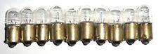 10 ampoules à baïonnette Ba9s 12 volts 100 mA années 50 ZINO - testées 100% OK