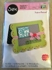 Sizzix Framelits Dies Card Scallops W/ Banners Drop-ins 15 Dies 560147 New