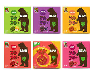 Bear Nibbles Pure Fruit Yoyo 1 or 6 Packs 20g Multipack Or Mixed Case