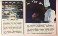 THE HICK'RY PIT Barbecued Meats & Pies, Mill Valley, CA BBQ ca 1960s Ad Postcard