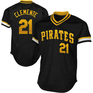 Roberto Clemente #21 Pittsburgh Pirates Classic Pullover Jersey Men's New HOF