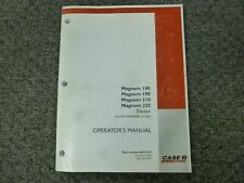 Case IH 180 190 210 225 Magnum Tractor Owner Operator Manual S/N ZARH06086-Up