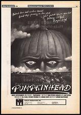 PUMPKINHEAD__Original 1986 Cannes Trade Print AD / poster__horror promo__1988
