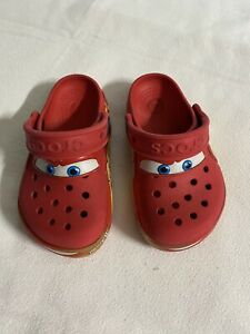 Lightning McQueen Crocs Toddler Sz 9 Preowned PLAY CONDITION