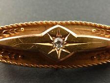 QUALITY VICTORIAN 15ct GOLD, DIAMOND SET BROOCH