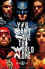 """JUSTICE LEAGUE 2017 Advance Version B DS 2 Sided 27x40"""" US Movie Poster Affleck"""
