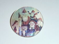 Cute Santa School On MOP - Mother Pearl Shank Button - Santa Claus Christmas