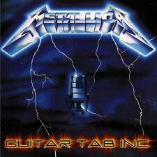 Metallica Guitar & Bass Tab RIDE THE LIGHTNING Lessons on Disc Hetfield Hammett