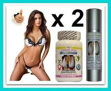 2  Breast Enlargement Pills & Cream Bust Enhancement Ladyboy Shemale Transgender