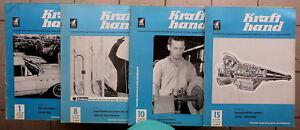 4x Krafthand 1,8,10,15/1965, Kraftfahrzeug-KFZ-Wirtschaft