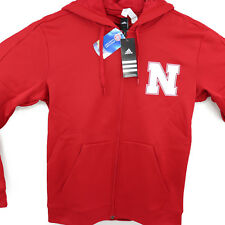 Adidas Nebraska Cornhuskers Full Zip Hoodie Adidas Team Issue Fleece M