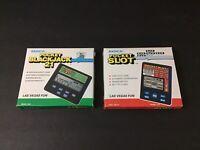 Radica Pocket Slot & BlackJack 21 Electronic Handheld Games Models 1350 & 1370