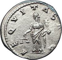 SEVERUS ALEXANDER 222AD Rome Ancient Silver Roman Coin Equality Aequitas i73565