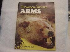 THOMPSON CENTER ARMS   no. 1 catalog including CONTENDER