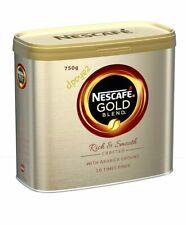 Nescafe Gold Blend Arabica Ground Robusta Beans Instant Coffee Granules Tin 750g