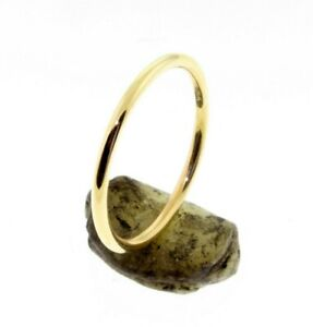 14 K Solid Gold 1.50 mm Round Wire Band or Stacking Ring HANDMADE IN U.S.