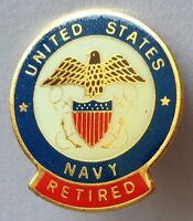 United States Navy Retired Pin Badge Rare Vintage Naval Military (D6)