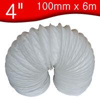 "100mm x 6 m metre       4"" PVC Flexible Ducting / Tumble dryer Hose / Flexi hose"