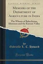 Memoirs of the Department of Agriculture in India, Vol. 8: The Wheats of Baluchi